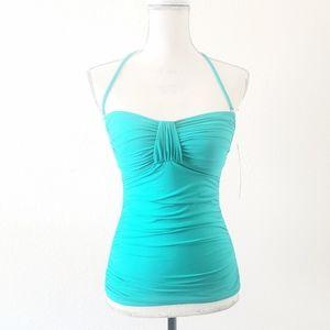 La Blanca Turquoise Halter Tankini Size 6